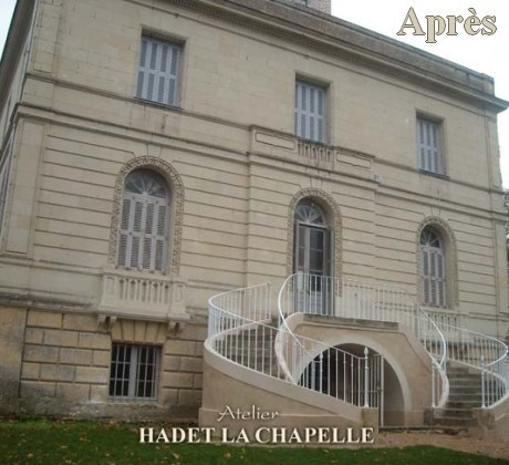 Restauration escalier château