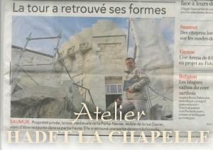 article rénovation tour de saumur