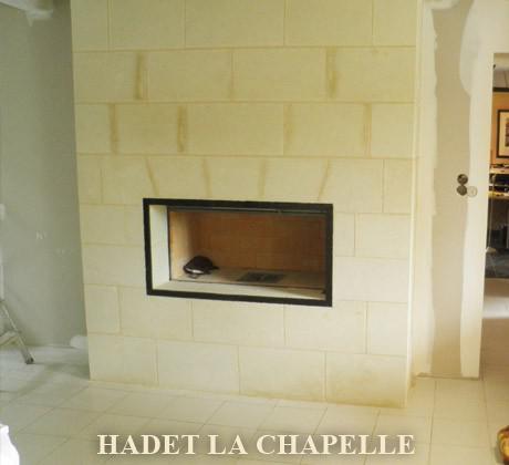 Taille de pierre cheminée