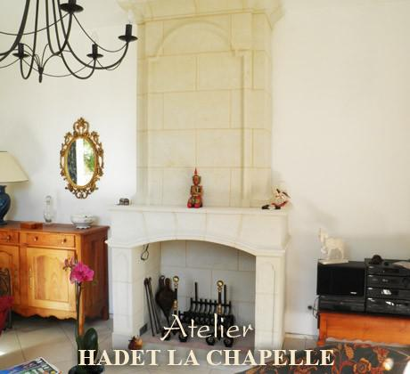 Création cheminée foyer ouvert Angers
