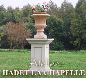 Vase en pierre parc